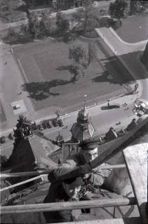 ARH NL Koberg 373, Reparatur des Rathausturmes, zwischen 1948/1949