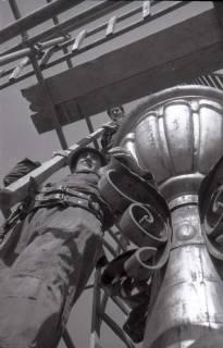 ARH NL Koberg 374, Reparatur des Rathausturmes, zwischen 1948/1949