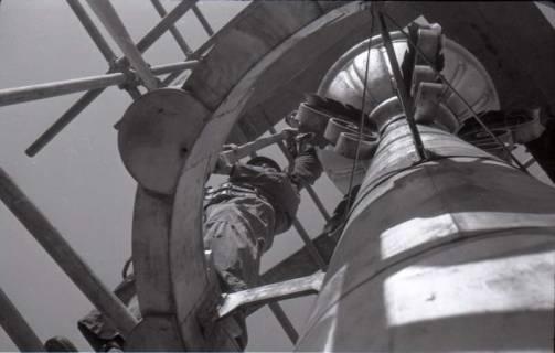 ARH NL Koberg 376, Reparatur des Rathausturmes, zwischen 1948/1949