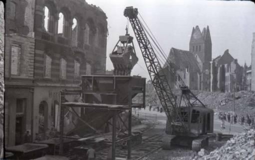 ARH NL Koberg 406, Trümmerbeseitigung in der Ständehausstraße, Hannover, zwischen 1946/1948