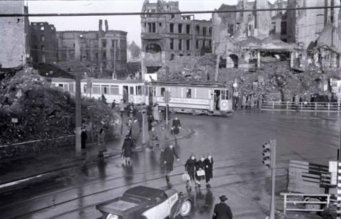 ARH NL Koberg 408, Kriegszerstörung am Kröpcke, Hannover, zwischen 1945/1946