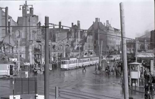 ARH NL Koberg 409, Kriegszerstörung in der Bahnhofstraße, Hannover , 1946