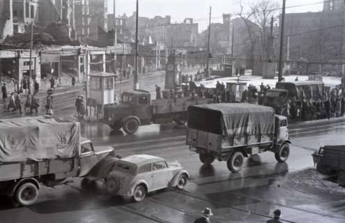 ARH NL Koberg 412, Kriegszerstörung am Kröpcke und Rathenaustraße, Hannover , 1946