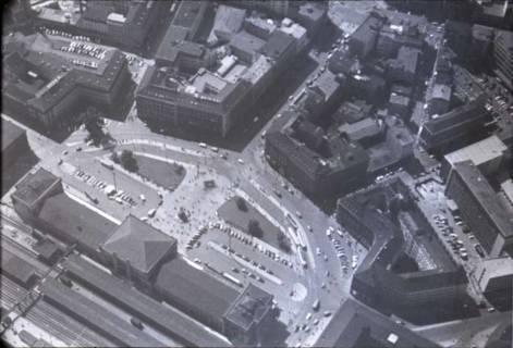 ARH NL Koberg 438, Hauptbahnhof mit Ernst-August-Platz, Hannover, 1957