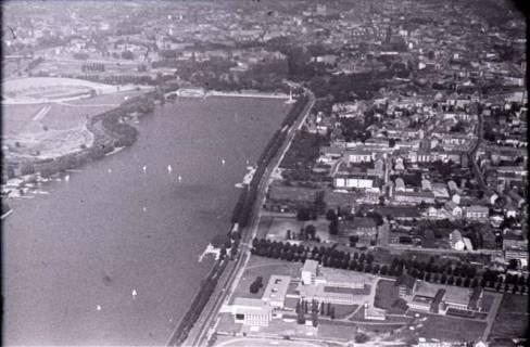 ARH NL Koberg 448, Maschsee und Rudolf-von-Bennigsen-Ufer, Hannover, 1957