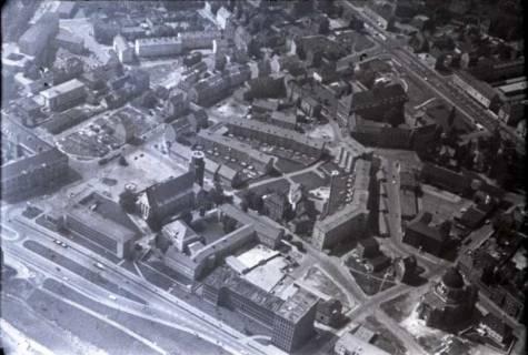 ARH NL Koberg 455, Neustädter Hof- und Stadtkirche St. Johannis, St. Clemens und Leibnizufer, Hannover, 1957
