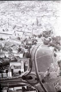ARH NL Koberg 463, Waterlooplatz, Leineschloss und Marktkirche, Hannover, 1957