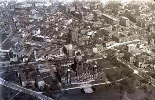 ARH NL Koberg 510, Rathaus, Aegidienkirche und Hotel Intercontinental, Hannover, 1965