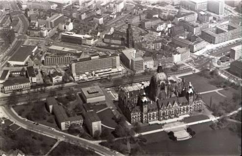 ARH NL Koberg 515, Rathaus, Aegidienkirche und Hotel Intercontinental, Hannover, 1965