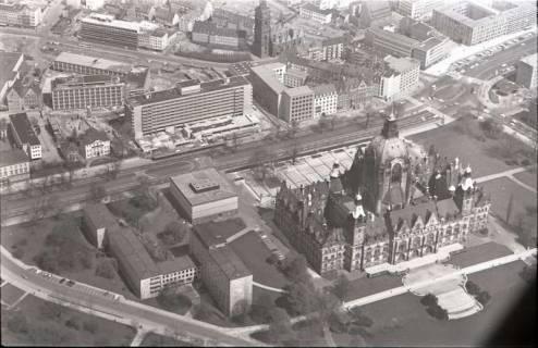 ARH NL Koberg 516, Rathaus, Aegidienkirche und Hotel Intercontinental, Hannover, 1965