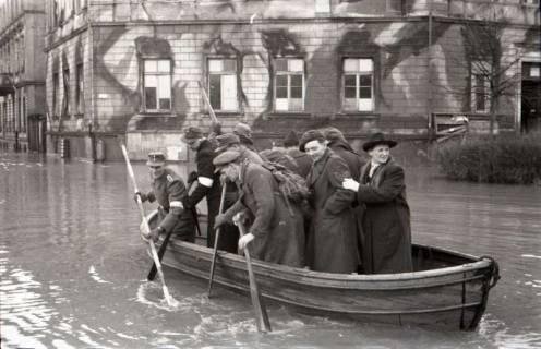 ARH NL Koberg 537, Leine-Hochwasser in der Calenberger Neustadt, Hannover, ohne Datum