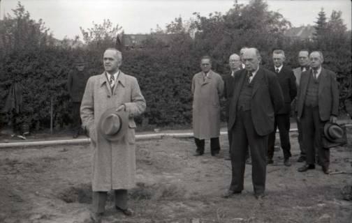 ARH NL Koberg 541, Grundsteinlegung Erich-Klabunde-Hof, Herrenhausen, 1948