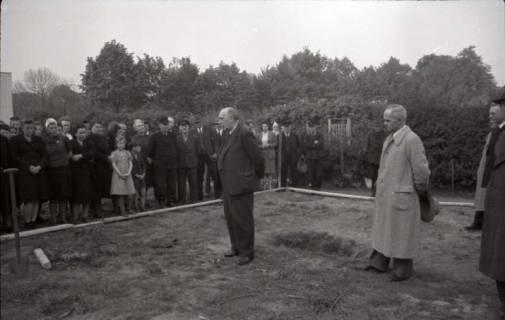 ARH NL Koberg 542, Grundsteinlegung Erich-Klabunde-Hof, Herrenhausen, 1948