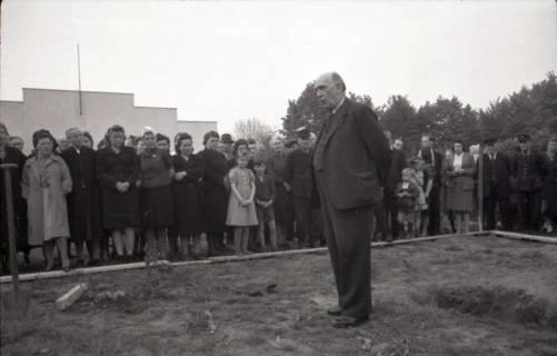 ARH NL Koberg 543, Grundsteinlegung Erich-Klabunde-Hof, Herrenhausen, 1948