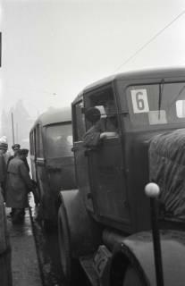 ARH NL Koberg 690, Notverkehr der Behelfsstraßenbahn in der Podbielskistraße, Hannover, 1946