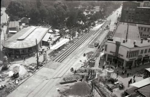 ARH NL Koberg 702, Reparatur der Straßenbahngleise am Kröpcke, Hannover, nach 1949