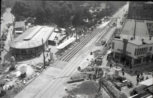 ARH NL Koberg 703, Reparatur der Straßenbahngleise am Kröpcke, Hannover, nach 1949