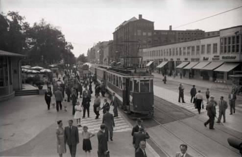 ARH NL Koberg 738, Straßenbahn Linie 11 am Kröpcke mit Blick in die Georgstraße, Hannover, nach 1948