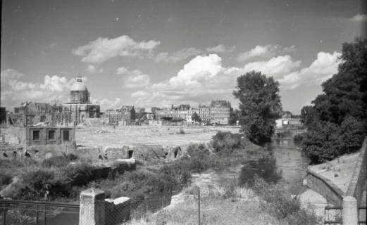 ARH NL Koberg 745, Leibnizufer mit Blick auf die Basilika St. Clemens, Hannover, 1948