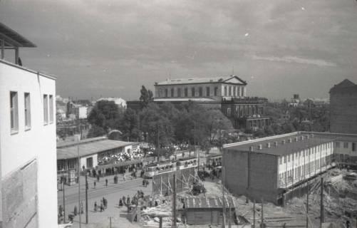 ARH NL Koberg 852, Blick via Kröpcke auf die Oper, Hannover, 1952