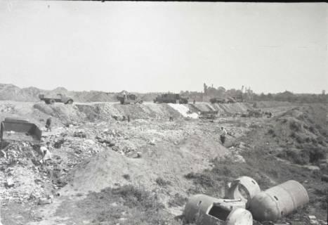 ARH NL Koberg 855, Trümmerschüttung für den Bau des Niedersachsenstadions, Hannover, 1952
