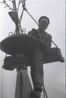 ARH NL Koberg 861, Reparatur der Apostelkirche am Welfenplatz, Hannover, 1952