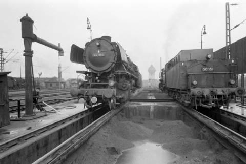 ARH NL Mellin 01-018/0010, Betriebswerk (Bw) der Deutschen Bahn in Lehrte, vor 1968