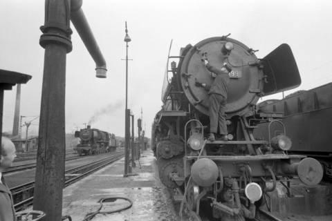 ARH NL Mellin 01-018/0011, Betriebswerk (Bw) der Deutschen Bahn in Lehrte, vor 1968