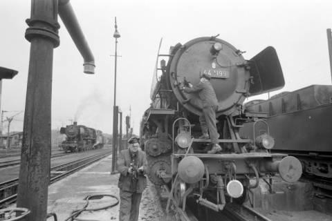 ARH NL Mellin 01-018/0012, Betriebswerk (Bw) der Deutschen Bahn in Lehrte, vor 1968
