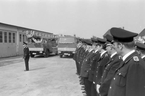 ARH NL Mellin 01-023/0020, Übergabe neue Drehleiter DLK 23/12 an die Feuerwehr Lehrte, 1970