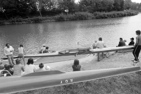 """NL Mellin 01-036/0008, """"Ruderverein für das Große Freie - Lehrte/Sehnde"""" (RGF) am Mittellandkanal, Sehnde, ohne Datum"""