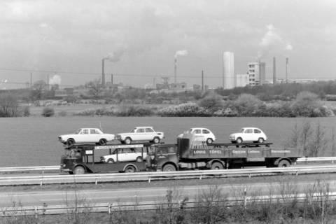 ARH NL Mellin 01-041/0009, Blick von Höver über die B65 auf das Misburger Industriegebiet, zwischen 1968/1972