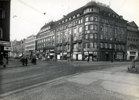 ARH Slg. Mütze 039, Ernst-August-Platz mit Blick in die Bahnhofstraße, Hannover, vor 1938