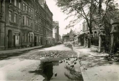 ARH Slg. Mütze 051, Verfüllter Bombentrichtrer in der Marschnerstraße, Hannover, ohne Datum