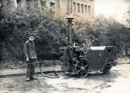 ARH Slg. Mütze 073, Bitumen-Einspritzgerät zur Herstellung von Fahrbahndecken, Hannover, vor 1945