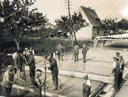 ARH Slg. Mütze 077, Straßenbauarbeiten, Hannover, um 1935
