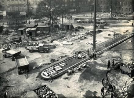 ARH Slg. Mütze 080, Umbau des Ernst-August-Platzes, Hannover, 1938
