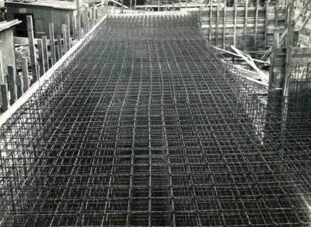 ARH Slg. Mütze 100, Baustahlbewehrung des Luftschutzbunkers Rotermundstraße, Vahrenwald, 1941