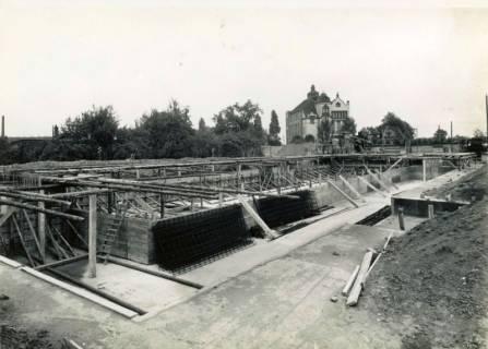 ARH Slg. Mütze 123, Baustelle des Luftschutzbunkers Dühringstraße, Hainholz, 1942