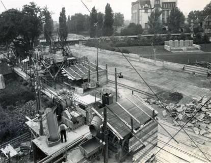 ARH Slg. Mütze 125, Baustelle des Luftschutzbunkers Dühringstraße, Hainholz, 1943