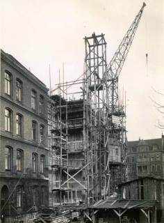 ARH Slg. Mütze 141, Baustelle des Luftschutzbunker Friesenstraße, Oststadt, 1942