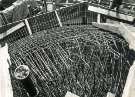 "ARH Slg. Mütze 158, Bewehrung des Luftschutzbunkers ""Sandstraße"", Nordstadt, 1941"