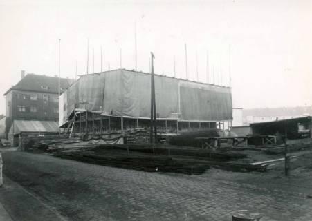 ARH Slg. Mütze 173, Baustelle des Luftschutzbunkers Bunnenbergstraße, Hainholz, 1941