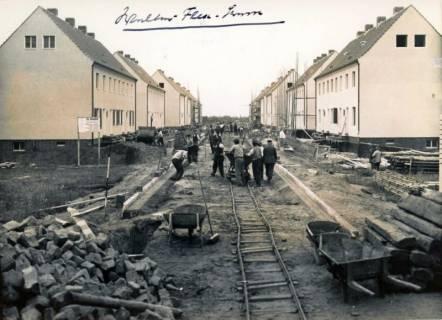 ARH Slg. Mütze 236, Bau von Häusern in der Walter-Flex-Straße, List, ohne Datum