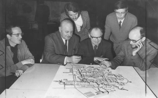 ARH Slg. Bartling 9, Baugebiet Silbernkamp im Modell, 1973