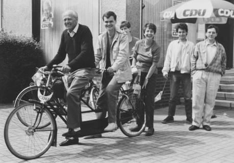 ARH Slg. Bartling 148, Michael Baldauf, MdL (CDU) auf Wahlkampftour (?), um 1985