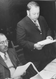 ARH Slg. Bartling 263, Helmut Greulich, Niedersächsischer Wirtschafts- bzw. Sozialminister (SPD), um 1975