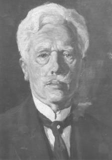 ARH Slg. Bartling 282, Älterer Herr in dunklem Jackett und weißem Hemd mit Stehkragen und dunkler Krawatte, ohne Datum