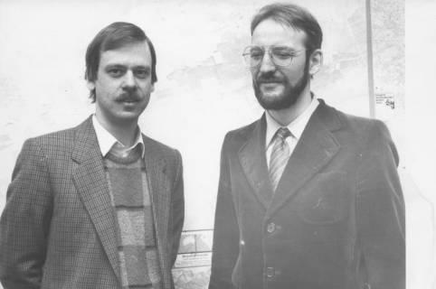 ARH Slg. Bartling 367, Framcke, Denkmalpfleger, Klein (v. l.), um 1980