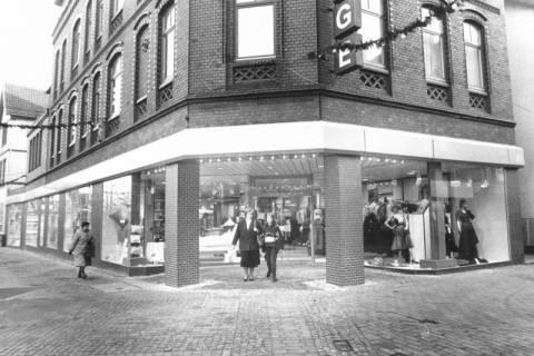 ARH Slg. Bartling 600, Kaufhaus Wage nach der Umgestaltung des Erdgeschosses, um 1980